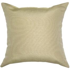 "16"" Square Solid Beige Throw Pillow thumb"