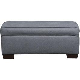 Mia Denim Storage rectangular Ottoman thumb