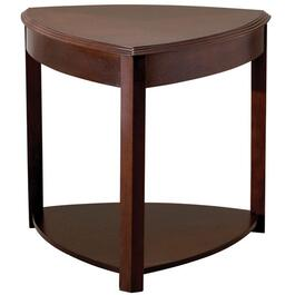 Walnut Triangle End Table thumb