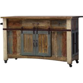 Antique Multicolour Kitchen Island thumb