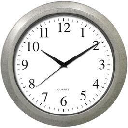 "14"" Round Grey Speckled Wall Clock thumb"