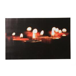 "14"" x 22"" Canvas Tea Lights Wall Plaque, with LED Lights thumb"