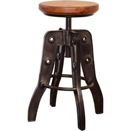 "24"" - 30""Adjustable Bar Stool, with Wood Seat thumb"