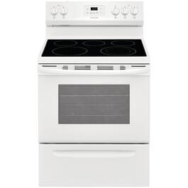 "30"" White Smooth Top Electric Range thumb"