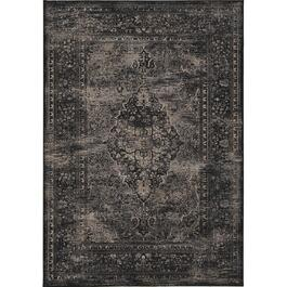 6' x 8' Antika Old World Black Area Rug thumb