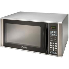 1000 Watt 1.1 Cu.Ft. Grey Countertop Microwave Oven, with Stainless Steel Trim thumb
