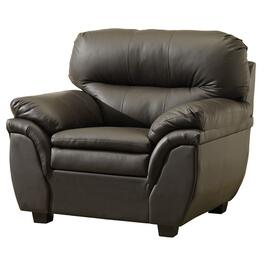 Brown Leather Match Chair thumb