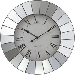 "22"" Round Matte Grey Wall Clock, with Mirror thumb"