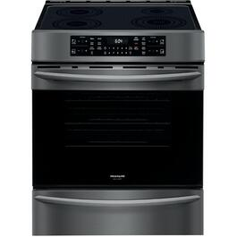 "30"" Black Stainless Steel Smooth Top Electric Induction Range thumb"