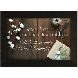 "16"" x 22"" Some People Look For a Beautiful Home Framed Plaque thumb"
