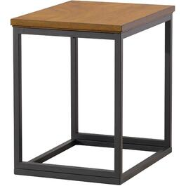 Metal/Wood Brown End Table thumb