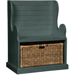 Little Boy Blue Hall Bench, with Basket thumb