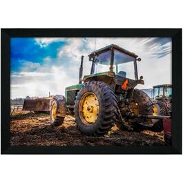 "14"" x 20"" John Deere At The Farm Wall Plaque thumb"