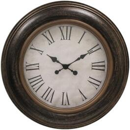 "23"" Round Ebony Ariel Wall Clock thumb"