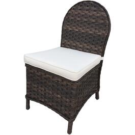2 Pack Charlotte Armless Wicker Dining Chairs thumb