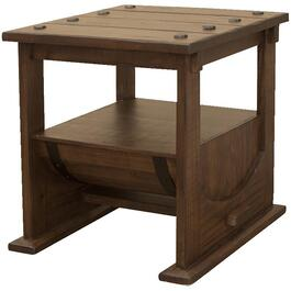Bourbon Square End Table, with Wood Barrel bottom thumb