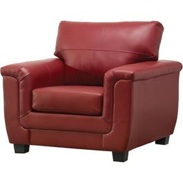 Madras Crimson Leather Match Chair thumb