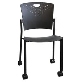 Black Polypropylene Stacking Chair thumb