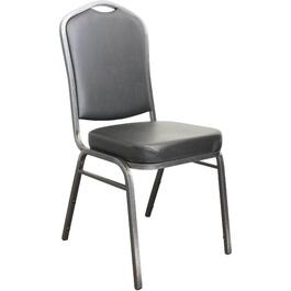 Black Vinyl Stacking Chair thumb