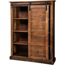 Dark Chocolate Cabinet, with Barn Door thumb