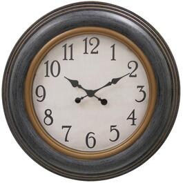 "23"" Round Grey Ariel Wall Clock thumb"