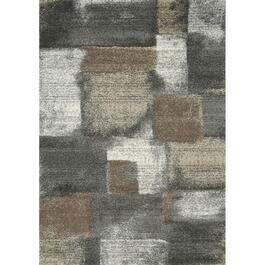 6' x 8' Breeze Grey/Brown Blocks Area Rug thumb