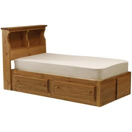 Cinnamon Mates Twin Size Bed, with 2 Drawers thumb