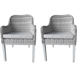 2 Pack Arabella Wicker Dining Chairs thumb