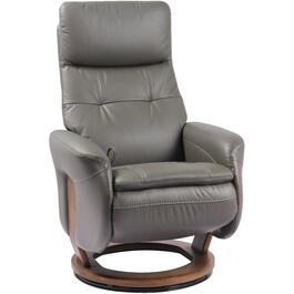Iron Grey Leather Match Francesca Recliner thumb