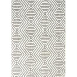 6' x 8' Boulevard Light Soft Grey Geometric Area Rug thumb