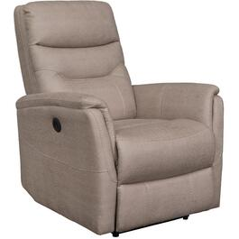 Keystone Beige Termoli Power Recliner, with USB thumb