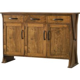 3 Drawer, 3 Door Ancaster Pecan Lader Server thumb