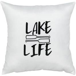 "16"" Square ""Lake Life"" Throw Pillow thumb"