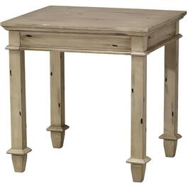 Distressed Grey Square End Table thumb