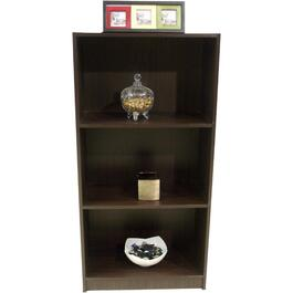"3 Tier 23.5"" x 47"" Chocolate Odell III Bookcase thumb"