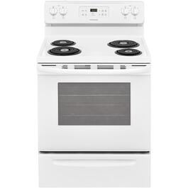 "30"" White Self Cleaning Coil Top Electric Range thumb"