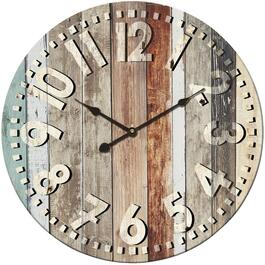 "23"" Vintage Barnboard Look Wall Clock thumb"
