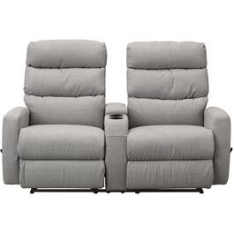 Grey Hillarie Space Saver Reclining Loveseat, with Console thumb