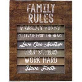 "14"" x 18"" Family Rules Wall Plaque thumb"
