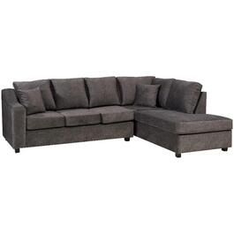 2 Piece Grey Hondo Sofa Sectional, with Chaise thumb