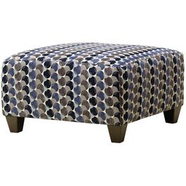 Bubble Ink Print Square Cocktail Ottoman thumb