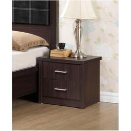 2 Drawer Chocolate Finish Ashford Night Table thumb