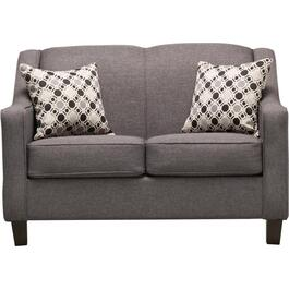 Hayden Grey Loveseat thumb