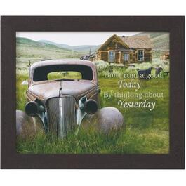 "20"" x 24"" Don't Ruin A Good Today By Thinking About Yesterday Framed Plaque thumb"