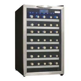 Black Case with Stainless Steel Trim Wine Cooler, Holds 45 Bottles thumb