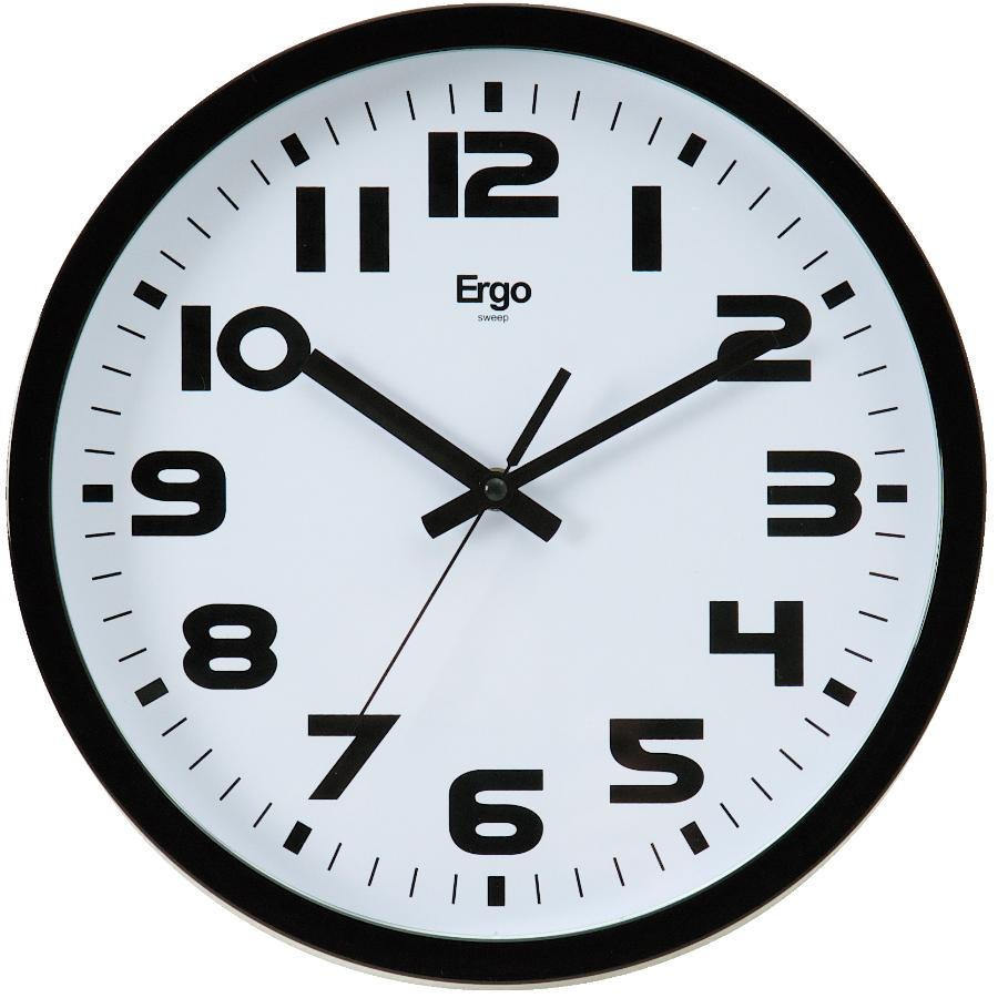 12 Round Silver Sweep Wall Clock With Quiet Sweep Movement Home