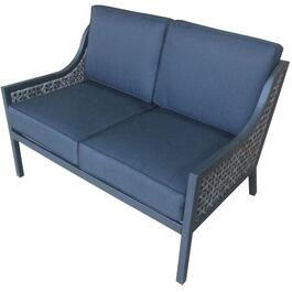 Grey Parkside Wicker Loveseat, with Cushions thumb