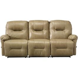 Zaynah Stone Leather Match Reclining Sofa thumb