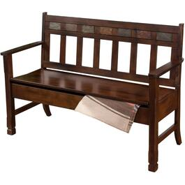 Dark Chocolate Santa Fe Storage Bench thumb