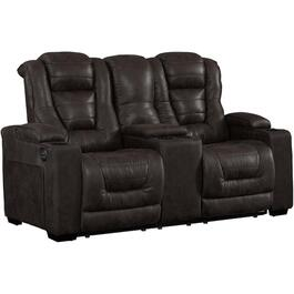 Badlands Charcoal Solana Power Recliner Loveseat, with Console thumb